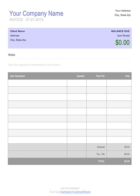Free Invoice Templates Online – Free Invoice Template   New Calendar Template Site