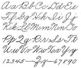 style handwriting alphabet handwriting