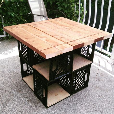 diy crate furniture milk crates patio table with storage furniture milk crates patio