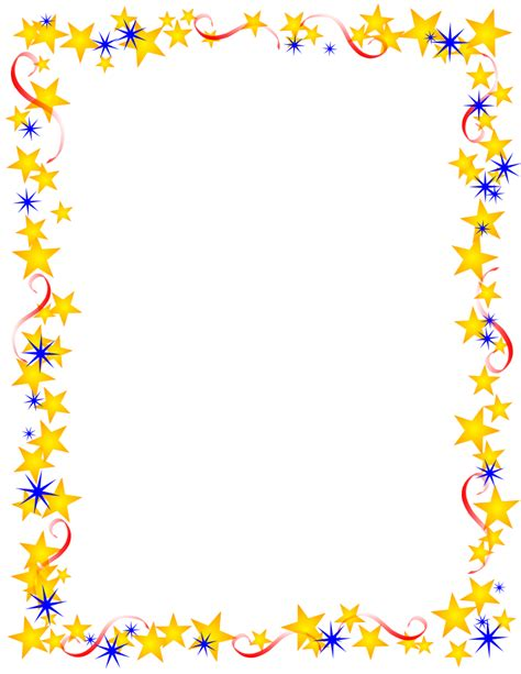 printable star frames free patriotic page borders political themed pages yet