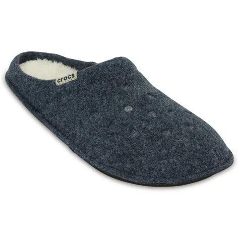 crocs house shoes crocs crocs classic nautical navy oatmeal ux1 203600 49u unisex slipper crocs