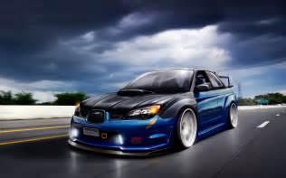 Subaru Wrx Sti Wallpaper Artwork Cars Subaru Impreza Wrx Sti Tuning
