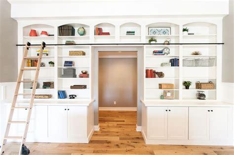 Bookshelf For Wall Built In Bookshelves With Sliding Library Ladder By