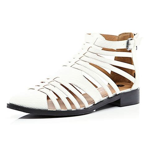white closed toe sandals white snake closed toe gladiator sandals shoes boots
