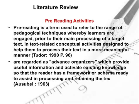 Reading Comprehension Review Of Related Literature by The Effect Of Grammar Vs Vocabulary Pre Teaching On Efl Learners Re