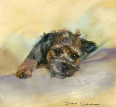 puppy time out time out border terrier puppy print by debbie gillingham