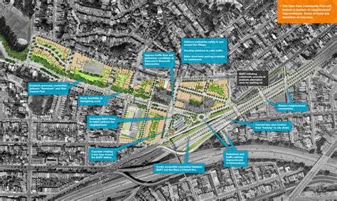 san francisco map glen park san francisco planning department glen park community plan