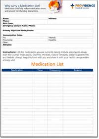 medication list providence holy family hospital