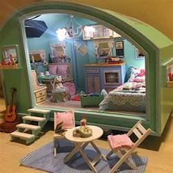 diy house diy wooden dollhouse miniature kit doll house led