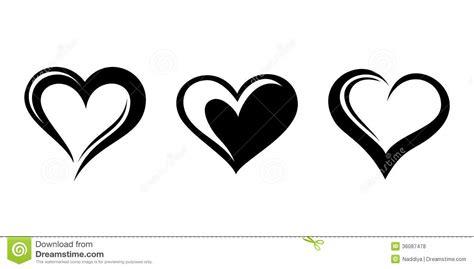 imagenes negras con corazones siluetas negras de corazones ilustraci 243 n del vector
