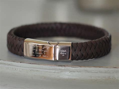 mens leather id bracelets leather bracelets engraved best bracelets