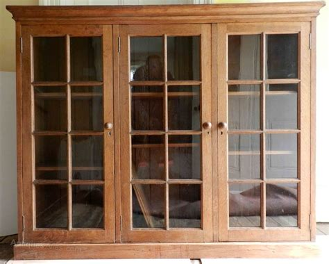 a 1920s glass fronted oak bookcase antiques atlas