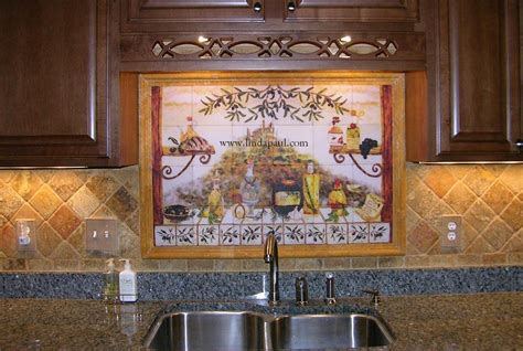 Kitchen Murals Backsplash by Italian Tile Backsplash Kitchen Tiles Murals Ideas