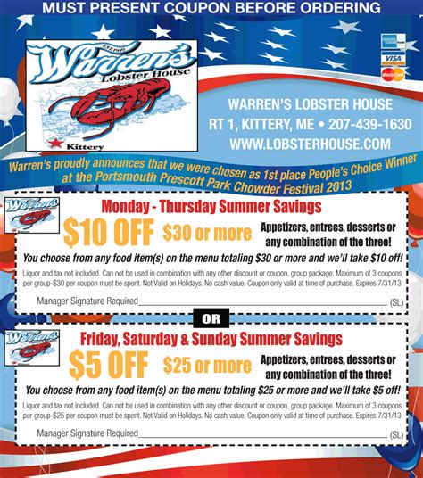 warrens lobster house warren s lobster house coupon print coupon king