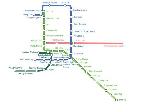 bts thailand map of bts skytrain and mrt subway in bangkok travelquaz