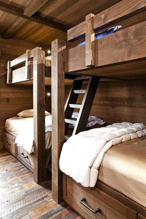 rustic loft bed room  rustic bunk bed plans twin  full