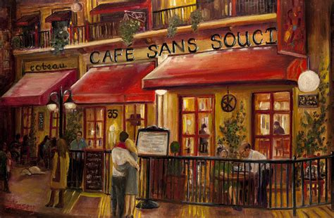 Small House Tour by Cafe Sans Souci Painting By Sheila Kinsey