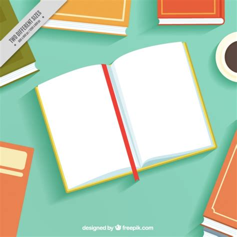background design book open book background in flat design vector free download