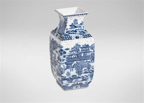 Blue Square Vase by Blue And White Square Vase Vases