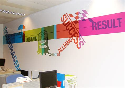 office wall design office interior graphic design by design wall