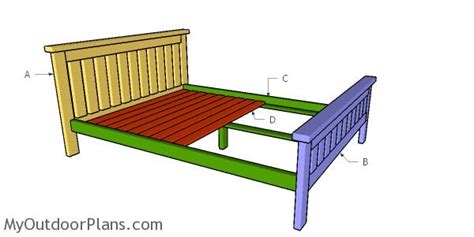 2x4 size bed frame plans myoutdoorplans free