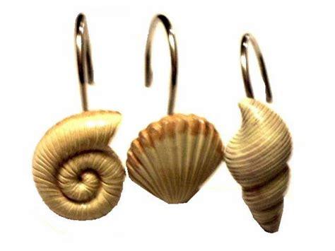 seashell shower curtain hooks resin seashells shower curtain hooks