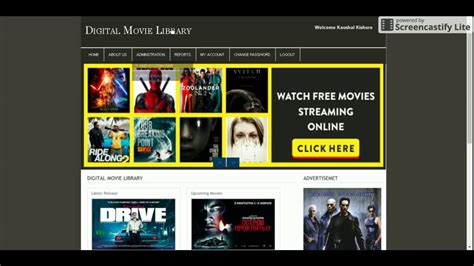 online tutorial project in php php and mysql project on digital movie library youtube