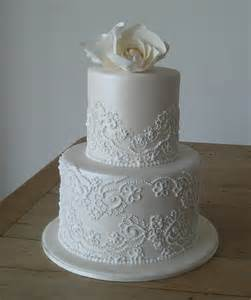 Robin 3 Tier Piped Wedding Stunning Tiered And Piped Wedding Cake Made The