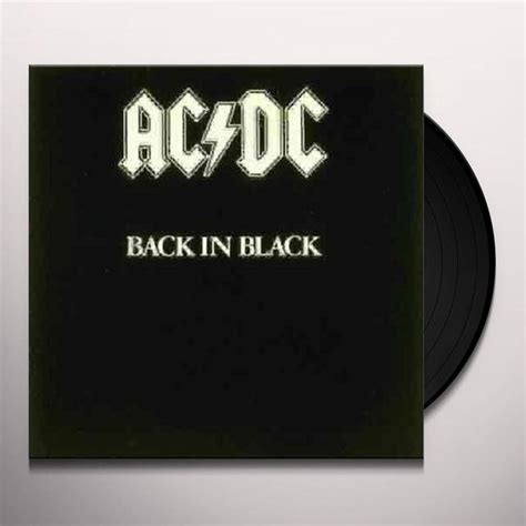 dc vinyl records ac dc back in black vinyl record