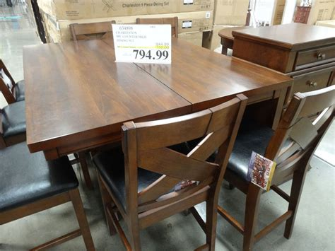 costco counter height dining table charleston 9 counter height dining set discount alert