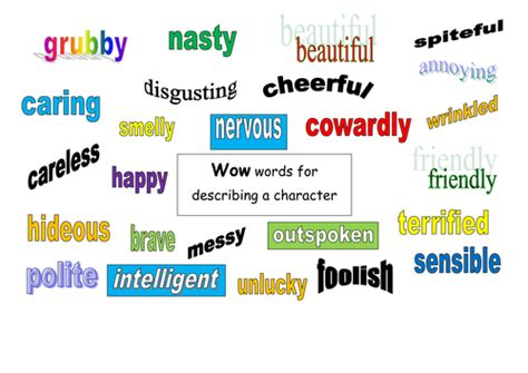 words describing new year wow words for describing characters by rachyben