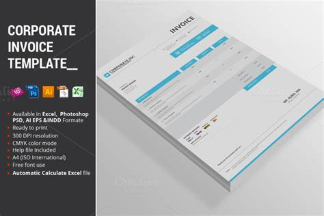 invoice template indesign invoice template in indesign 187 designtube creative