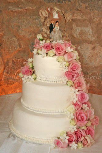 Wedding Cake Flower Tops by Beautiful 3 Tier Wedding Cakes