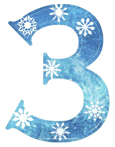 frozen film number 2 frozen snowflake numbers large clipart l great kids
