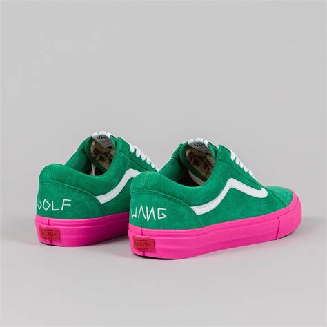 Vans Golf Wang 5 vans syndicate skool pro s golf wang green pink flatspot