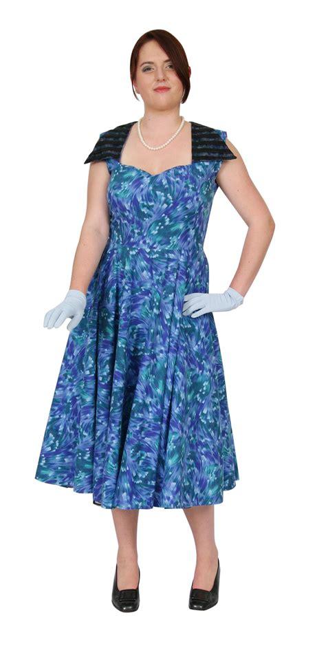 swing dress with petticoat 50s blue floral swing dress petticoat lane