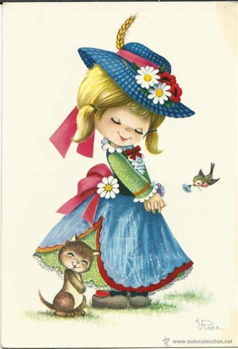 Imagenes Infantiles Antiguas   bonita postal antigua postales ni 241 os pintura