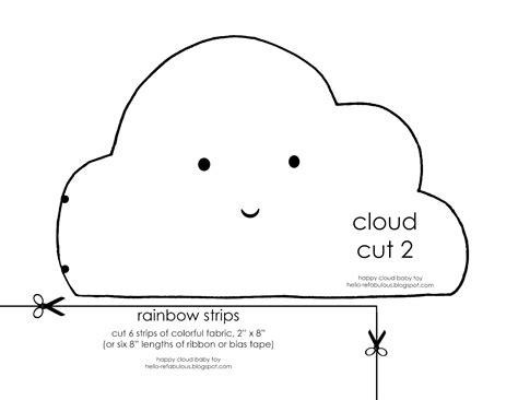 hello refabulous happy cloud baby toy tutorial