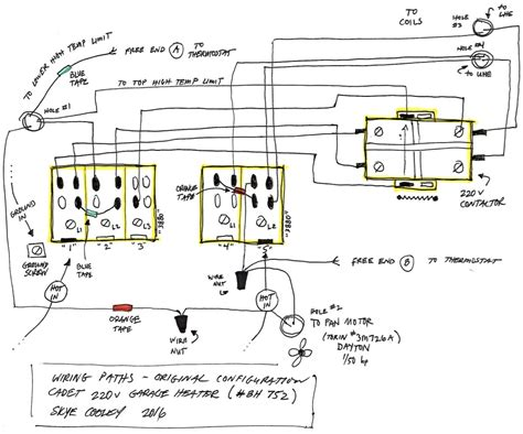 reznor gas heater wiring diagram electrical schematic