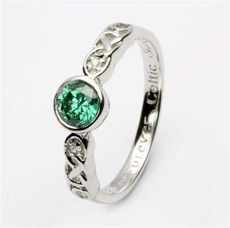 birthstone silver celtic ring ls sl94 5
