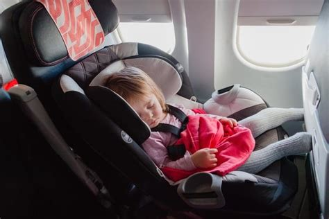 car seat for 2 year on airplane installing car seat in an airplane