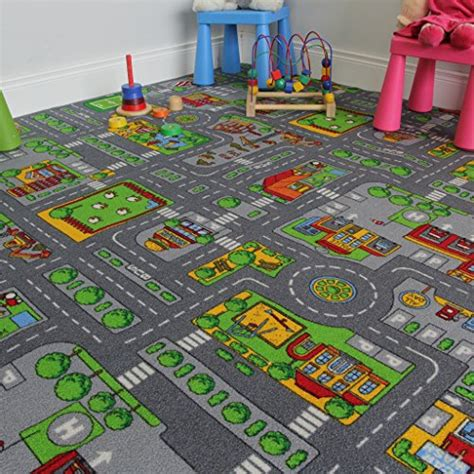Play Area Rugs Children S Play Mat Town City Roads Area Rug 200cm X 200cm 6ft 7 X 6ft 7 Area Rugs