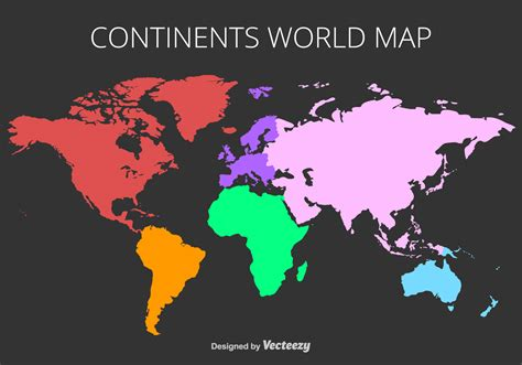 colorful world map vector colorful world map free vector
