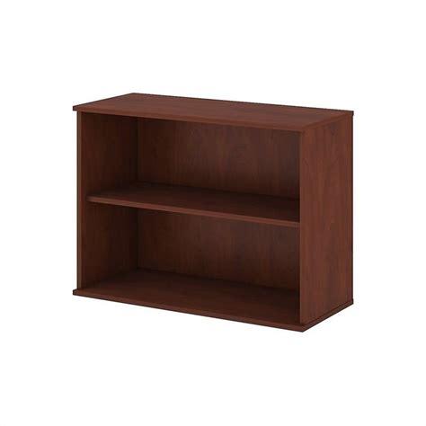 bush business 30h 2 shelf bookcase in hansen cherry bk3036hc