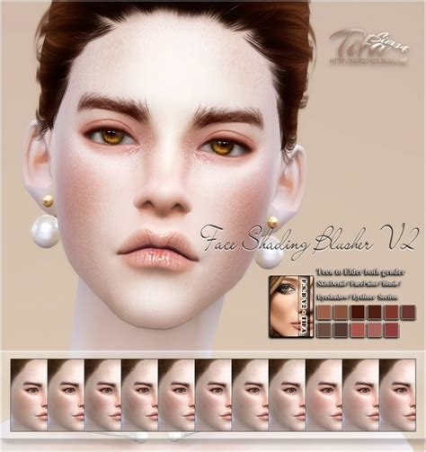 Face shading blusher V2 at Tifa Sims » Sims 4 Updates