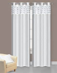 white curtains ebay pair of sparkle white faux silk window curtain panels w