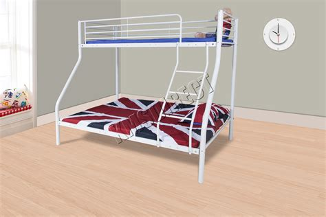 white metal bunk bed foxhunter new white metal children sleeper bunk bed