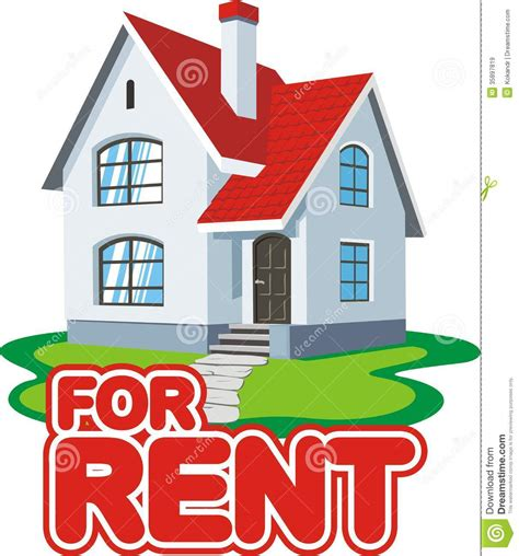 house rental house for rent stock vector image of realtor vector 35897819
