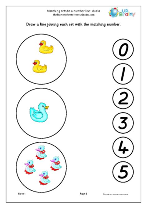 pattern matched line count matching sets to a number line ducks