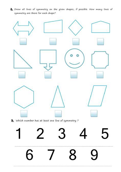 Lines Of Symmetry Worksheet by Symmetry Worksheet2